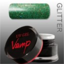 Gel colorat    VAMP  No. 812 Green Day, Glitter Collection 5 gr.