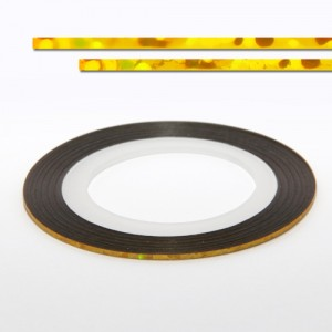 Banda decor unghii 102L, aur laser