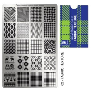 Matriță pentru stampilă 02 Fabric texture