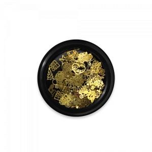 Nail art Selection 03 Gold Metal (120buc)